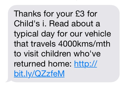 Child's i text message