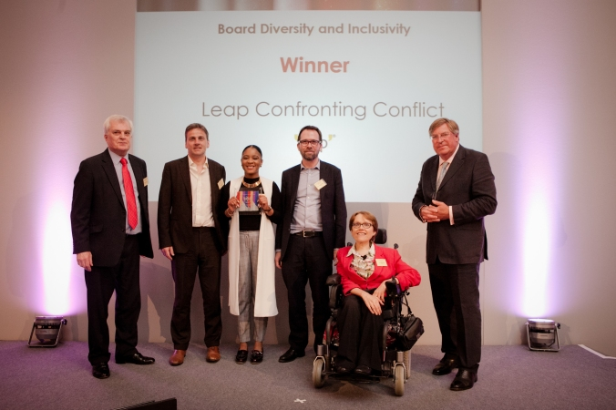 Leap Confronting Conflict, winners at Charity Governance Awards (photo by Kate Darkins).jpg